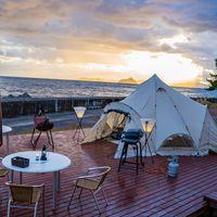 【隠岐初グランピング体験】絶景ロケーションでキャンプ♪夕食は海鮮会席orオリジナルBBQをチョイス!