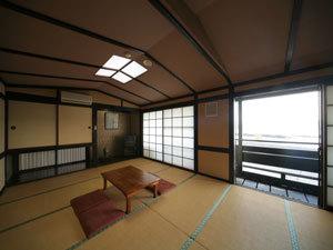 ◆和室16畳(大人数対応5〜10名)海の見えるバルコニー付