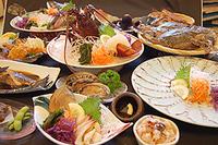 【逢プラン】旬な魚介類をふんだんに使った大将おまかせ厳選メニュー!(夕朝食付)