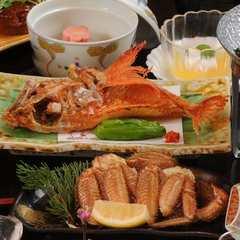 【春夏旅セール】お部屋で名物きんき唐揚&牛ヒレステーキ付き和食膳を【輝】