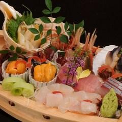 【活鮑の踊焼き+刺身舟盛】 厳選食材をたっぷり堪能贅沢プラン♪ 【輝-かがやき-膳】