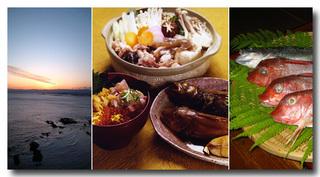 【楽天スーパーSALE】5%OFF★料理自慢!旬魚三昧♪あんこう鍋と刺し盛り付きプラン