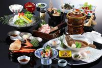 春のお値打ち会席〜香住蟹・八鹿豚の饗宴〜