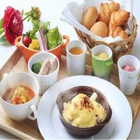 【信州朝ごはん】会田卵や自家製ポトフなど和洋食のコラボレーション朝食を♪