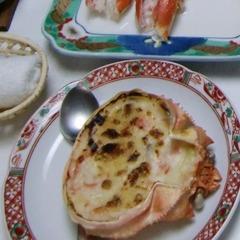 脂がのったほろほろの『のどぐろ』&カニ・海老がついたお魚料理を♪当館人気のカニグラタンも!