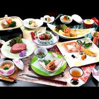 【月-tuki-】料理長特選!福島牛ステーキは極上の味!旬の食材の和会席と自家源泉の露天風呂を堪能♪
