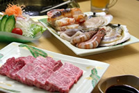 ファミリーでグループで!飛騨牛と魚介類、焼肉プラン