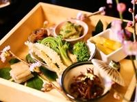 【春の季節限定】 春野菜と桜鯛の彩り会席