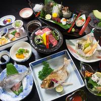◆料理自慢の宿!徳島で瀬戸内の海の幸ふんだんの夕食≪板長おまかせ会席≫【夕朝食付】