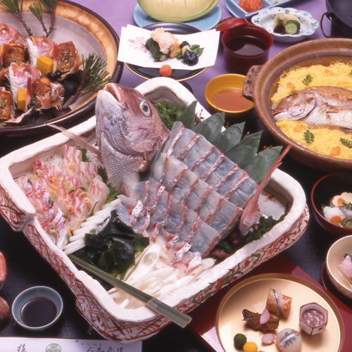 ★超豪華!! 鯛しゃぶ・鯛飯が食べられる!!鯛づくし会席プラン★【あいたい兵庫】明石鯛
