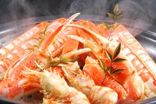 ●柴山カニはカニ刺を◆茹でカニ天ぷらも付いたカニプラン  現金特価・・