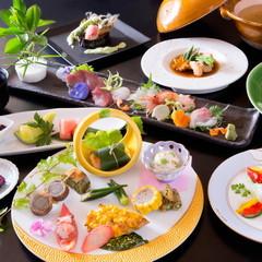 【LuxuryDaysセール】いけがみ流日本料理ー竹ー 旬魚お造り盛り会席 × 特選黒毛和牛ステーキ