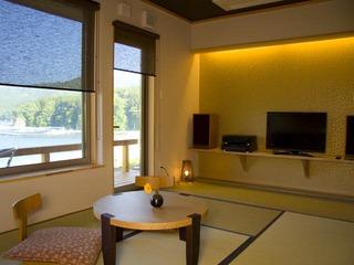 特別室 上々福 藍(あい) 【半露天風呂付和洋室】