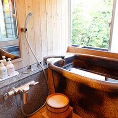 【温泉内風呂付き】ディナーバイキング☆熱々ステーキと天ぷら 陶器の湯船で温泉を楽しもう♪