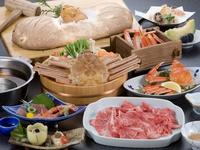 【カニ&但馬牛の2大よくばり鍋フルコース】カニだけでは物足りない!お腹からモォ〜という声が聞こえる?