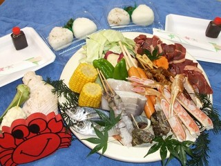 【海辺×バーベキュー】海鮮料理でアウトドア満喫♪〔5組限定〕〔1泊2食〕