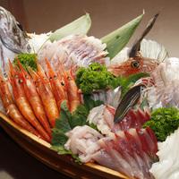 【竹】スタンダード♪旬の魚介舟盛り付きイチオシコース!≪お部屋食≫