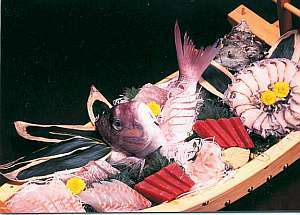 ★舟盛り+アワビ+サザエ付★豪華絢爛魚介尽くし二食付きプラン☆(10畳)