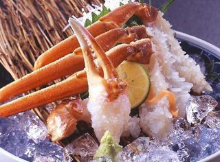 【活きた蟹】100%柴山番ガニ★焼き・刺身・かにちり鍋・甲羅みそ焼・天ぷらコース★2・3月限定