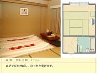 和室 6畳間 大人3名様 ▼ 畳に布団が一番! 【カード払いOK】