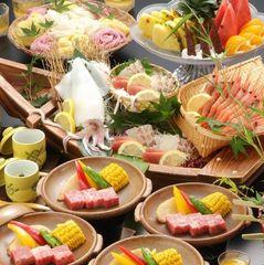 【夏季限定7月・8月】 ファミリープラン<3名様より>夏の味覚満載!盛り込み料理