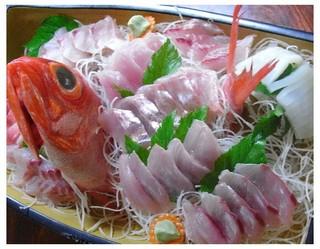 ●金目鯛の姿煮 地魚の盛り合わせプラン