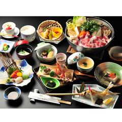 【さき楽】×【早割30】≪2食付≫30日前の予約で1100円OFF!囲炉裏であわしま伝統「山賊鍋」