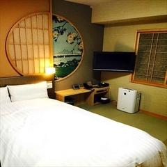 □禁煙純和風ダブル□全室WiFi完備&シモンズ社製ベッド