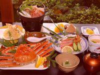 【蟹取県】★かにづくし会席♪かに刺♪蟹すき鍋など