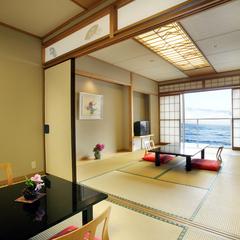 ☆駿河湾をひとりじめ☆ 和室10畳と6畳の2間でゆっくりと…