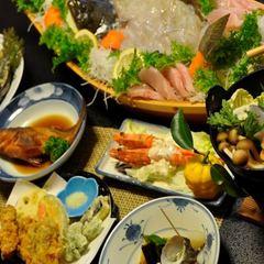 【女将のオススメプラン】個室へ夕食を楽しむ&豪華な船盛コース