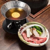 【定番の新・奥飛騨懐石をランクアップ】飛騨牛を使用した寄せ鍋仕立てのオリジナル小鍋しゃぶしゃぶ付き