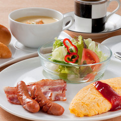お一人様サポートプラン 選べる朝食付! (一番人気は麦とろろ御飯♪)