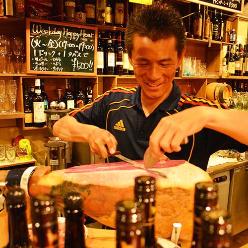 【2食付★スペイン料理】カット職人日本一が手掛ける絶品生ハム×シェリー酒♪
