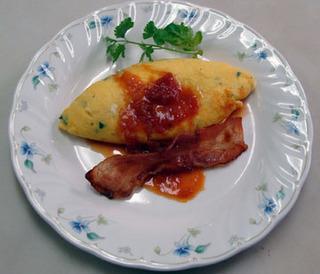 ハーブオムレツ爽やか高原の朝食B&B
