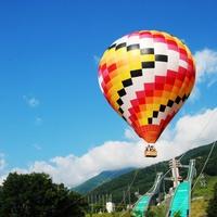 【熱気球】【体験】♪北アルプスを地上30mから眺める係留フライトパックお手軽プラン♪【朝食付】