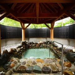 【1泊素泊り】2種類の貸切露天風呂♪美肌効果バツグンの温泉三昧