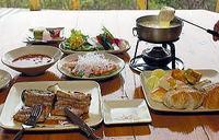 [チーズフォンデュー」+フルコースディナー