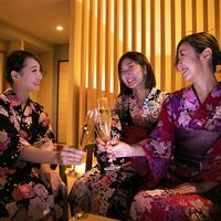 ≪女子旅プラン≫ 〜色浴衣に着替えて楽しい女子トークと美味しい壱岐料理〜
