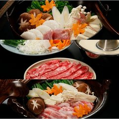 【選べる三種の鍋】あったか大鍋+串盛りセット◆平家お狩場焼プラン