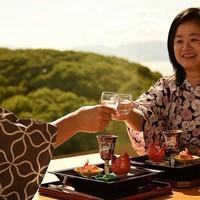 <瀬戸内いで湯の旅>春爛漫!浴衣で楽しむ「広島なだ万」春の懐石&温泉