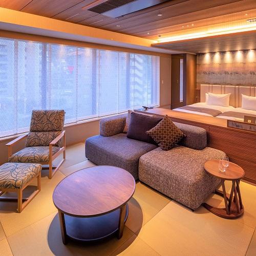 伊丹空港より30分【新客室完成記念】和モダン&ラグジュアリーな禁煙の3客室■ベッドで過ごす和空間
