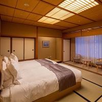【山側客室】 和室10畳(ベッド付)◆禁煙◆