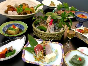 ●健康旬彩プラン●もっちり玄米と下部温泉の源泉で美味しく体質改善