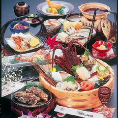 お一人様に1桶付き★海女桶【伊勢海老&鮑&サザエ】など季節のお造りで満足♪大漁プラン!