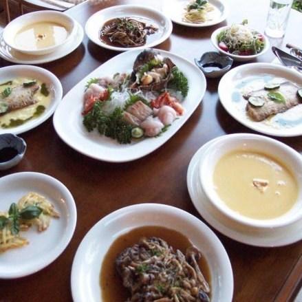 磯料理とフレンチのミックスコース