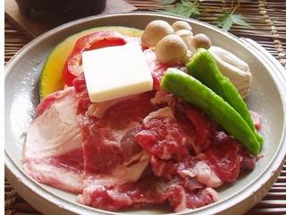 ▼【信州朝ごはん】ボリューム満点!特典付き★国産牛&馬肉どっちも味わえるちょっと贅沢プラン♪