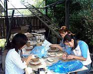 ●【お試し陶芸家・オプション】手練りの陶芸体験とフランス料理のフルコースの宴【現金特価】