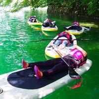 【青木湖SUP半日ツアー】透明度の高い青木湖の湖上ツーリング!お得なツアーセット ≪一泊二食≫