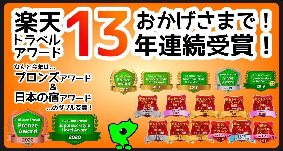 楽天アワード13年連続受賞!